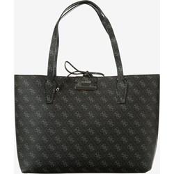 9567513d5cfe0 Shopper bag czarna Guess elegancka poliestrowa na ramię