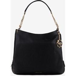 6bbb2cadd121d Shopper bag Michael Kors duża na ramię czarna matowa z breloczkiem