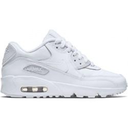2bef3805 Buty sportowe damskie Nike do biegania młodzieżowe na koturnie sznurowane  bez wzorów skórzane