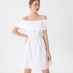 a8e7a0da2b Sukienka biała House z haftem trapezowa