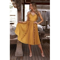 f29ca3ccb6 Sukienka żółta Ivet.pl midi