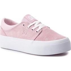 4c5293889727c Trampki damskie Dc Shoes ze skóry bez wzorów na platformie ...