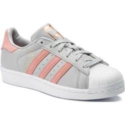 0e28d5c8b564f Trampki damskie Adidas superstar bez wzorów sznurowane sportowe