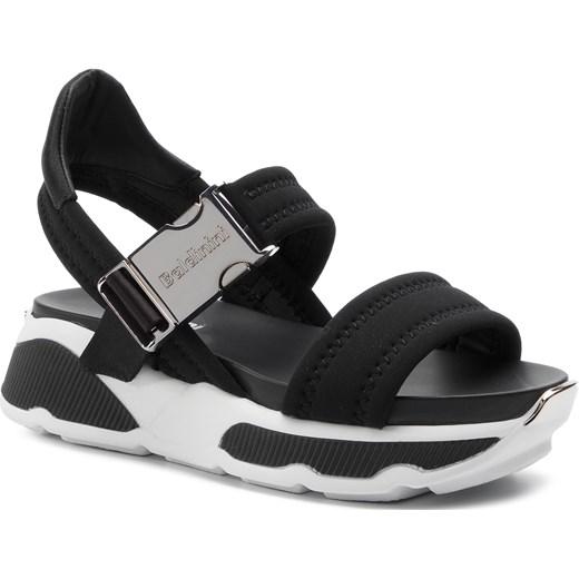 Sandały damskie czarne Baldinini na platformie gładkie na średnim obcasie Buty Damskie RT czarny Sandały damskie AUVH