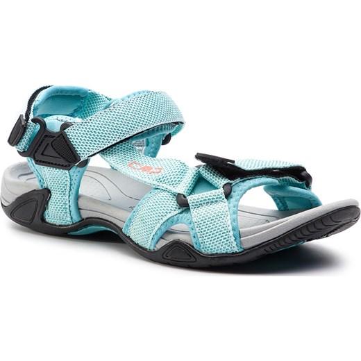 Sandały damskie Cmp z tworzywa sztucznego na rzepy Buty Damskie BF niebieski Sandały damskie OIIK
