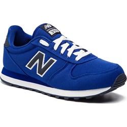 401a0d30ec9aa Buty sportowe męskie New Balance niebieskie wiązane ze skóry ekologicznej  ...