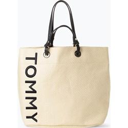 216d9089e889d Shopper bag Tommy Hilfiger ze skóry wakacyjna na ramię bez dodatków duża
