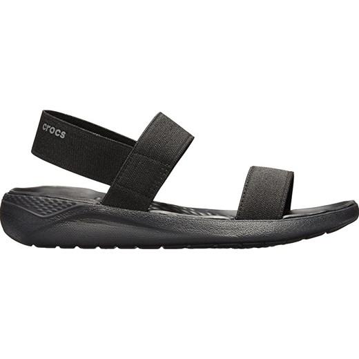 Sandały damskie Crocs bez wzorów z klamrą bez obcasa płaskie casual
