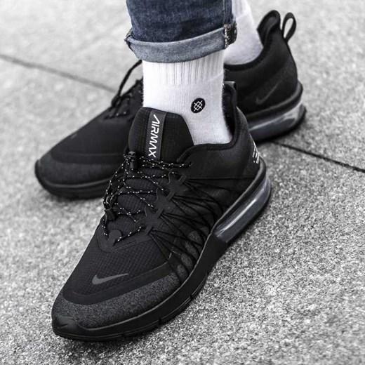 bdd46c14e Buty sportowe męskie Nike air max sequent czarne z tkaniny w Domodi
