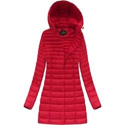 e979f6afe5db7 Libland kurtka damska czerwona jesienna z poliestru casual gładka z  kapturem długa