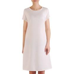 0a85bfb373 Sukienka biała na spacer z dzianiny