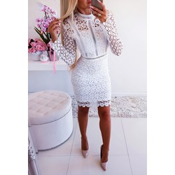ecd6db4c1eb2 Sukienka Iwette Fashion prosta z długim rękawem