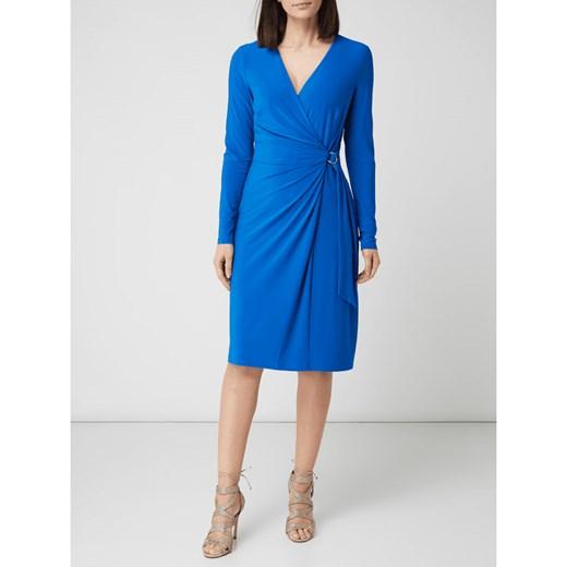 25321c2862 Sukienka Lauren Ralph midi bez wzorów z długimi rękawami w Domodi