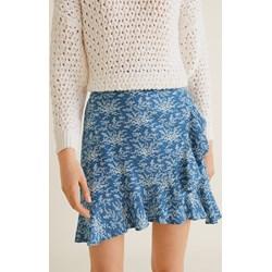 8feb8e7a11 Niebieskie spódnice asymetryczne simple