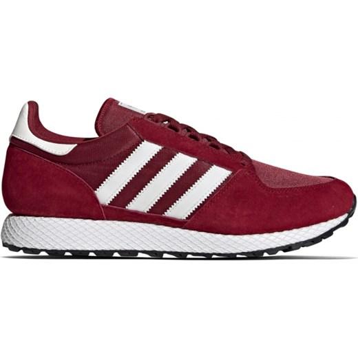 Adidas Originals buty sportowe męskie na wiosnę czerwone sznurowane z nubuku