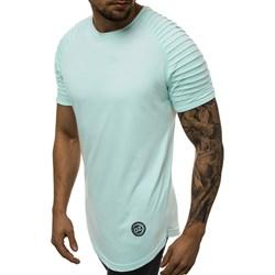 f841fb1af3008 T-shirt męski miętowy Ozonee z krótkim rękawem