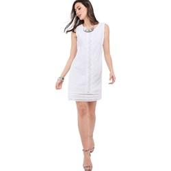 e311d092d8 William De Faye sukienka na urodziny bez rękawów prosta mini koronkowa