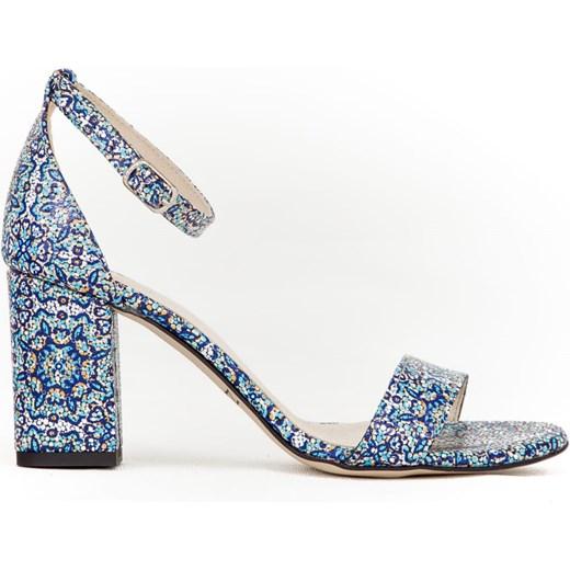 Sandały damskie Zapato na wysokim obcasie letnie eleganckie z klamrą na słupku Buty Damskie HM niebieski Sandały damskie RGGT