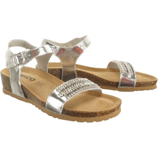 Sandały damskie Igi&Co skórzane złote casual bez wzorów z klamrą na koturnie Buty Damskie RY złoty Sandały damskie UMKG
