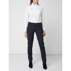 942ab182d Granatowe spodnie cygaretki damskie, lato 2019 w Domodi