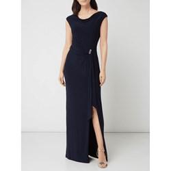 d0184d3076 Niebieska sukienka Lauren Ralph balowe z okrągłym dekoltem