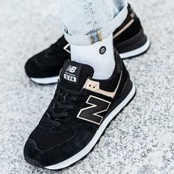 232f2103 Buty sportowe damskie New Balance w stylu casual w młodzieżowym new 575 bez  wzorów sznurowane