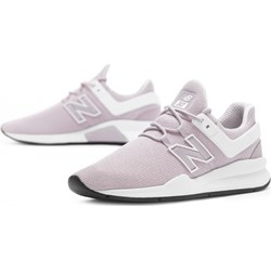 586eb2c1 Buty sportowe damskie New Balance różowe płaskie z gumy