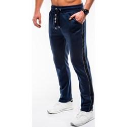 6993a7a1 Spodnie męskie Ombre Clothing granatowe