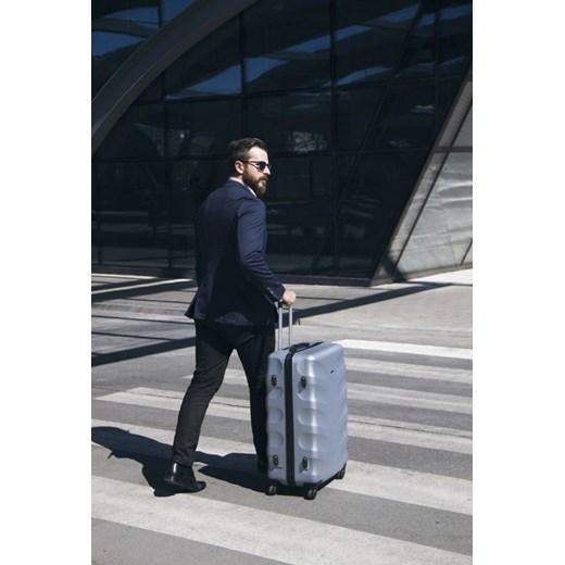 689576d4ab64e ... Duża walizka podróżna stl402 abs miętowa Solier uniwersalny Skorzana.com