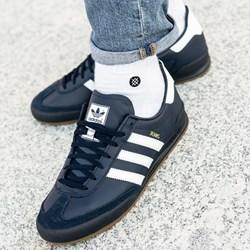 f1924ab21d3e4 Buty sportowe męskie Adidas ze skóry niebieskie wiązane młodzieżowe