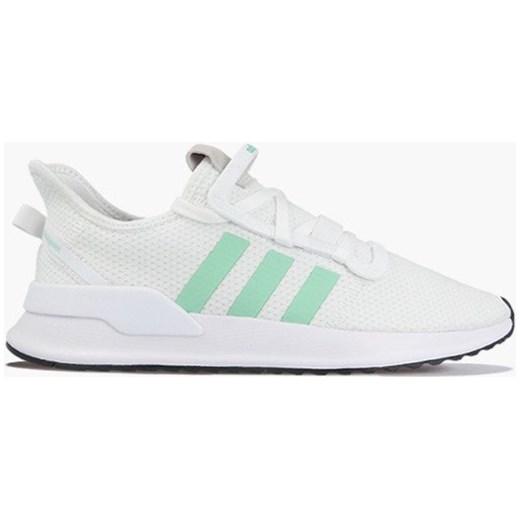 Buty sportowe damskie białe Adidas Originals na wiosnę bez wzorów płaskie