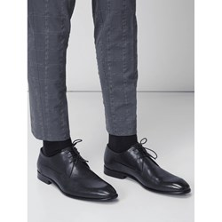 ccc80414640a2 Buty eleganckie męskie Hugo Boss skórzane sznurowane