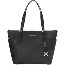 6308e8785c926 Shopper bag Michael Kors czarna na ramię ze skóry