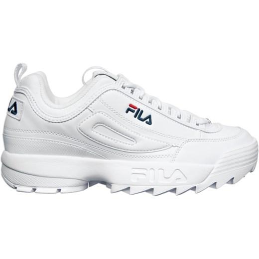 Buty sportowe męskie białe Fila młodzieżowe skórzane