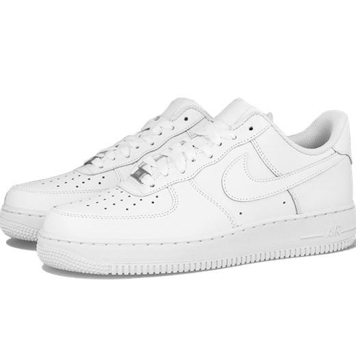 c8d97cb78ddb1 Buty sportowe męskie Nike air force białe skórzane sznurowane w Domodi