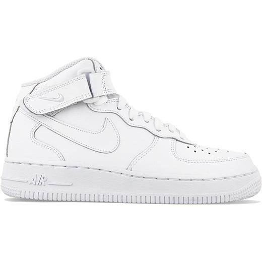 Buty sportowe damskie Nike air force białe płaskie ze skóry