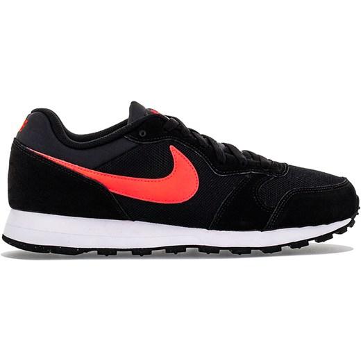 Buty sportowe męskie Nike z zamszu czarne sznurowane