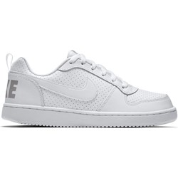 f15944c5339a0 Nike buty sportowe damskie do koszykówki białe płaskie bez wzorów  eleganckie sznurowane