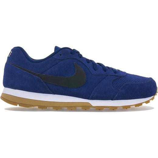 Buty sportowe męskie Nike z zamszu sznurowane niebieskie