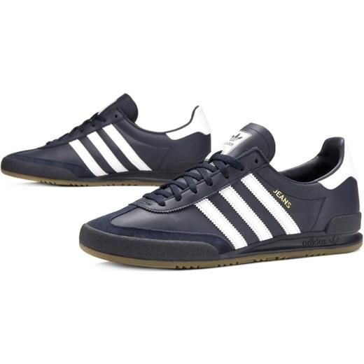 8dbb685d5ea24 Buty sportowe męskie Adidas niebieskie młodzieżowe; Buty sportowe męskie  Adidas wiązane ze skóry młodzieżowe