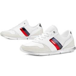 dbe3cc7bd96d6 Buty sportowe damskie Tommy Hilfiger sneakersy młodzieżowe zamszowe na  płaskiej podeszwie gładkie sznurowane