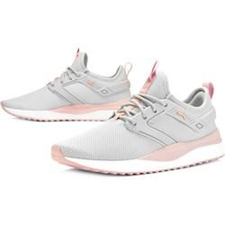 8d87584c Białe buty sportowe damskie Puma do fitnessu bez wzorów wiązane