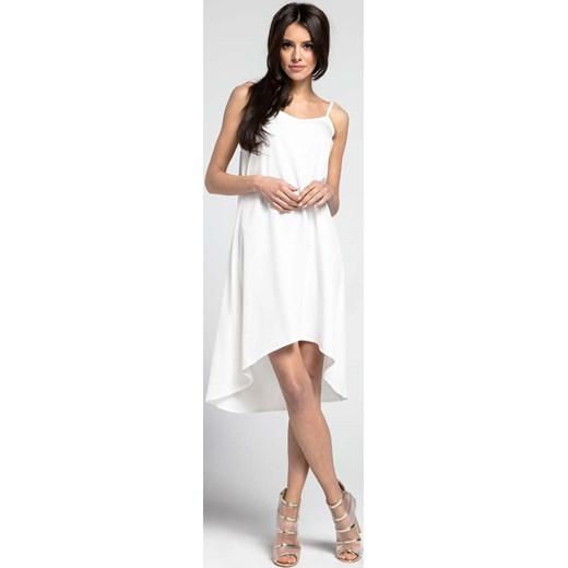 Sukienka rozkloszowana asymetryczna BIAŁA 149zł