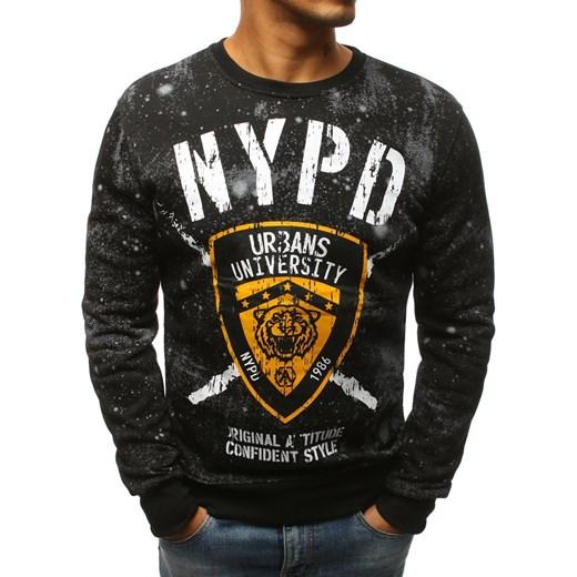 80% ZNIŻKI Bluza męska czarna Fila młodzieżowa Odzież Męska