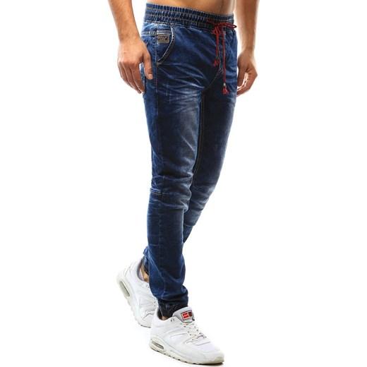 1004912409666e Joggery męskie jeansowe niebieskie (ux1089) Dstreet czarny w Domodi