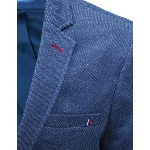 3769a961eb508 ... Marynarka męska Dstreet bez wzorów niebieska elegancka