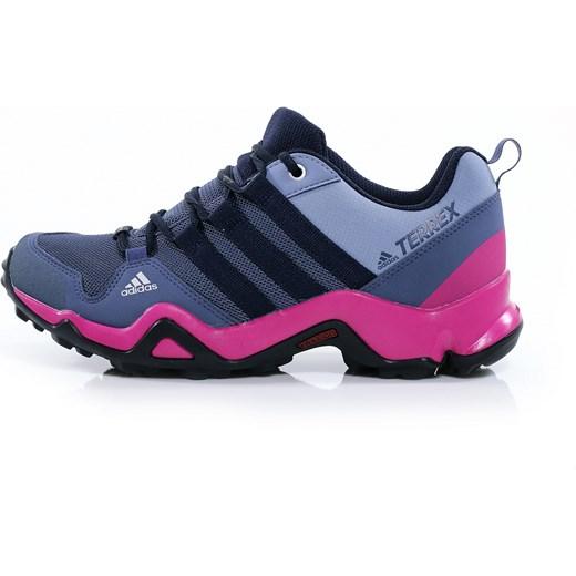 Buty trekkingowe damskie Adidas sportowe bez wzorów wiązane płaskie