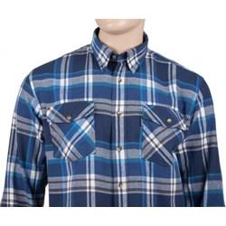 b8932b21fe03ac Koszula męska niebieska Dockland na jesień tkaninowa