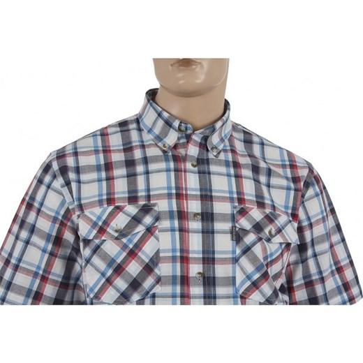 Koszula męska Wrangler casual wielokolorowa z długimi rękawami z włoskim kołnierzykiem