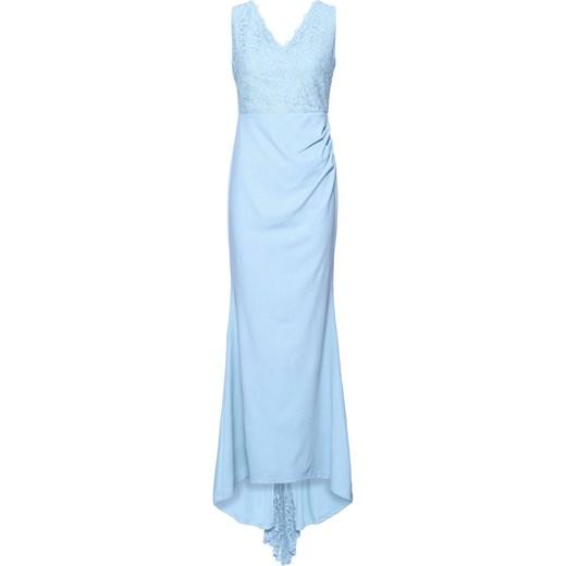 Sukienka na zimę bez rękawów maxi elegancka w Domodi